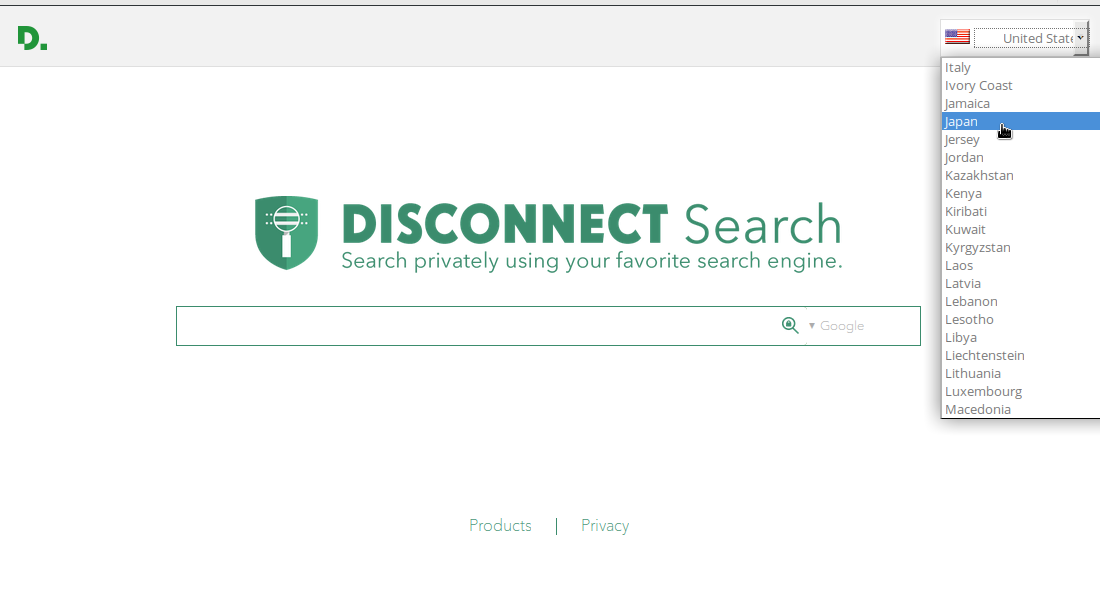 Disconnect Searchサイト
